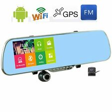 5inch 1080P Android GPS Nav WIFI Rear View Mirror DVR Camera Dash Cam Recorder