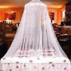NEW Princess Elegant Lace Mosquito Netting Mesh Canopy Round Dome Bedding