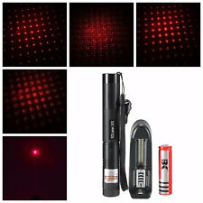 RED LASER POINTER con batteria e caricabatterie 1mW PLUS chiavi di sicurezza