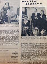 N1-6 Ephemera 1956 Article Folded Radio Show Stella Dallas Anne Elstner Smolen