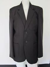 "Truform School Blazer Boys  34"" Blazer Black Badgeable"
