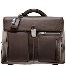 Piquadro Frame brown organized briefcase w/ two gussets, mobile case CA1045FR/M