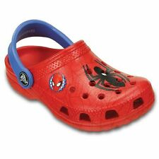 Little Boys Classic Red Spiderman Crocs USA  Infant/Toddler Size 4/5
