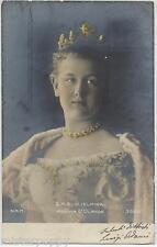 Sua Maestà GUGLIELMINA Regina d'Olanda PC Viaggiata 1906