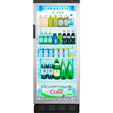 Commercial Reach-In Glass Door Refrigerator, Beverage Cooler Merchandiser Fridge