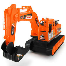 New Kids Excavator Track Digger Construction Diecast Model Scale Tractor Toy