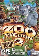 Microsoft Zoo Tycoon 2 Endangered Species Expansion Pack Add-On Windows PC
