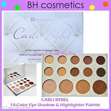 NEW BH Cosmetics CARLI BYBEL 14-Color Eye Shadow & Highlighter Palette FREE SHIP