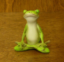 Top Collection Enchanted Story Fairy Garden #4223 YOGA FROG LOTUS POSE,  MIB