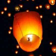 30pcs Sky Lanterns Chinese Paper Sky Fire Candle Wish Wedding Party Lamp White