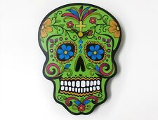Green Sugar Skull - Day of the Dead -Dia de Los Muertos - Calavera - Wall Clock