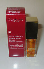 CLARINS Instant Light Lip Oil ~Honey 01~ Eclat Minute Lip Comfort Oil~Boxed