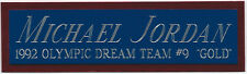 MICHAEL JORDAN DREAM TEAM NAMEPLATE FOR SIGNED-BASKETBALL-JERSEY-PHOTO-FLOOR