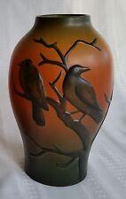 P Ipsen Enke Arts & Craft Axel Sorensen Danish Pottery Vase with Birds 1920s