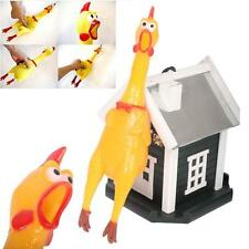 1x Lovely Baby Best Pet Screaming Chicken Duck Toy Squeaker Fun Sound Rubber UP