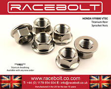 Honda VFR800 VTEC 02-12 Rear Sprocket Nut Kit - Racebolt Titanium