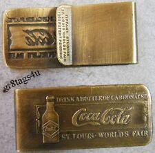 Coca Cola money clip St Louis bottle 1940 Tiffany Studios antique finish