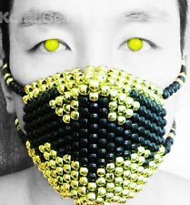 Gold Metallic Batman Kandi Mask From KandiGear, Rave Gear & Costume For Concert