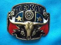 Texas Lone Star Rodeo Bull Country & Western 3D Belt Buckle