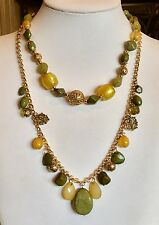 """ROBERT ROSE"" SET OF 2 BEADED NECKLACES FABULOUS!!"