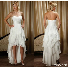 Short Bridal Gowns Sweetheart Chiffon High Low Country Western Wedding Dresses
