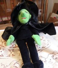 WICKED WITCH OF THE WEST - Beanie Plush Doll- Warner Brothers 1998