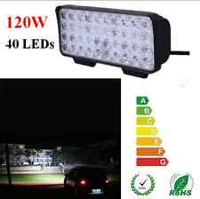 120W 40 LEDs Off-road Light Spot Working Light Bar SUV ATV Boat Fog Lamp 12V/24V