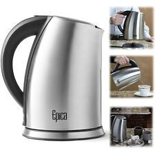 Cordless Electric Kettle 1.7 Litre Stainless Steel Coffee Hot Water Boil Tea Pot