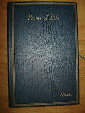 EXTREMELY RARE SIGNED 1ST EDITION OF,POEMS OF LIFE KATHLEEN WHITFORD TURNER 1932
