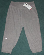 NWT Womens M Under Armour Heather Gray Charged Cotton Undeniable Capris Medium
