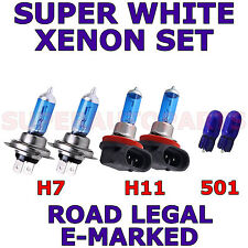 VOLKSWAGEN JETTA HID 2007-ON  SET H7   H11  501  XENON SUPER WHITE LIGHT BULBS