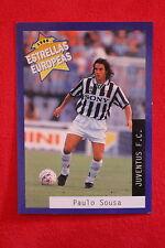 PANINI ESTRELLAS EUROPEAS 1996  N. 24 JUVENTUS PAULO SOUSA MINT!!!