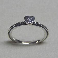 New Authentic Pandora Ring 190896CZ One Love Clear CZ Size 52 (6) Box Included