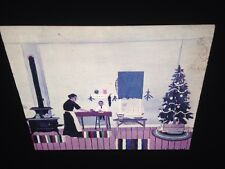 """Horace Pippin """"Christmas Breakfast"""" African-American Naive Art 35mm Slide"""