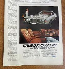 1974 Mercury Cougar XR-7 Ad