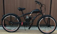 80 CCCruiser Bike 2Cycle Motor Kit Motorized Bike Flat Black w Red -HI-PER