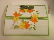 Stampin Up Handmade Mother's Day Card - Spring Wreath