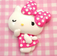 GIANT Cute Winking Kitty Flatback Cabochon Embellishment Decoden Crafts