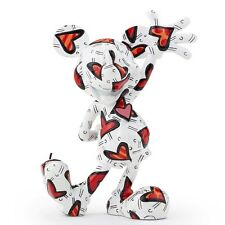 ROMERO BRITTO DISNEY MICKEY MOUSE WRAPPED IN HEARTS FIGURINE