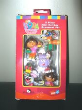 Dora the Explorer Holiday Christmas Tree Decorations Mini Ornaments Set