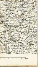 Marlieux Romans Condeissiat 1889 carte état-major s toile orig. St-Georges/Renon