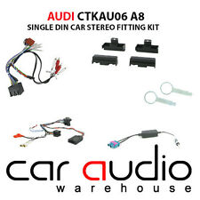 Audi A8 1994-1999 Car Stereo S/Din Fascia & Steering Wheel Interface Kit CTKAU06