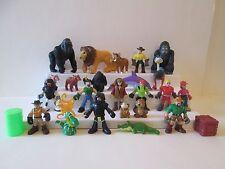 26 pc Fisher Price Imaginext Jungle Safari zoo lion apes people figures animals