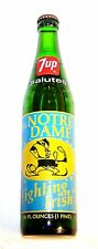 Full 7up Seven Up Notre Dame Irish Football Soda Pop Bottle Can Sign Ticket Ofr