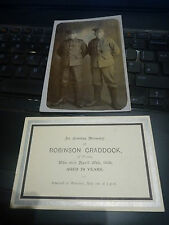 ROBBIE AND ALEC CRADDOCK  of Preston   WW1 COUSINS     ALL TO RESEARCH