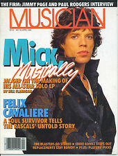 4/85 issue of MUSICIAN magazine  MICK JAGGER  Jimmy Page  The Rolling Stones