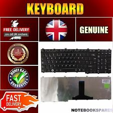 For TOSHIBA SATELLITE P300D-S8900 P300D-ST3711 Gloss Black Keyboard UK No Frame