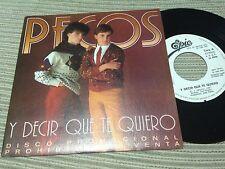 """PECOS - Y DECIR QUE TE QUIERO 7"""" SINGLE PROMOCIONAL 1 CARA - EPIC 82"""