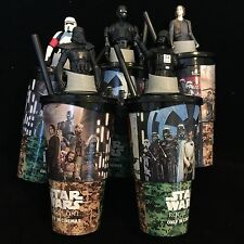 Star Wars Rogue One Cups All 5 Toppers K-2SO, Darth Vader, Stormtrooper Sale