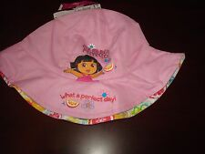 DORA THE EXPLORER KIDS BEACH SURF SZ YOUTH SCRIPT hat cap BUCKET FLOPPY BEACH